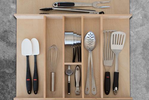 Custom Wood Kitchen Utensil Drawer Organizer W Bar E Cadet Productions